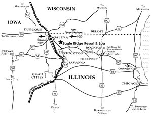 Map - Eagle Ridge Inn & Resort Galena