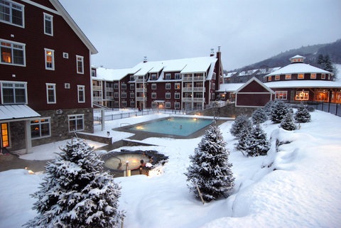 Pool View In Winter
