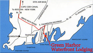 Map - Green Harbor Waterfront Lodging Falmouth