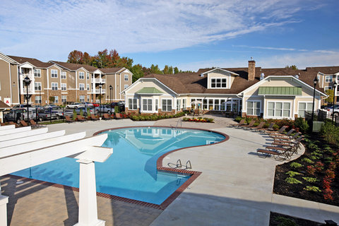 Petersburg Furnished Apartment Pool And Clubhouse
