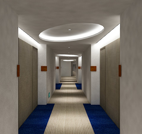 Hallway of Holiday Inn Express Jakarta Cikini