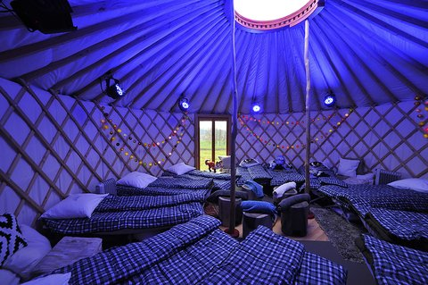 Starry dreams in a yurt