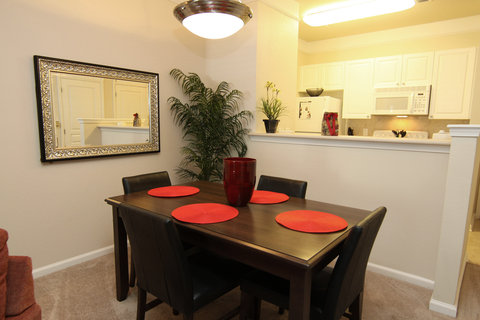 Raleigh Furnished Apartment Dining Room