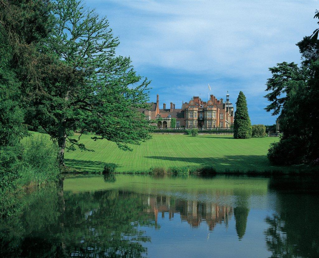 Tylney Hall across the lake