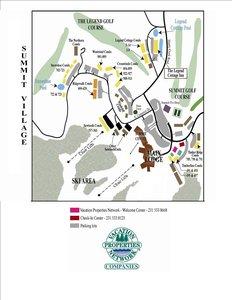 Map - Legend Cottage Inn Bellaire