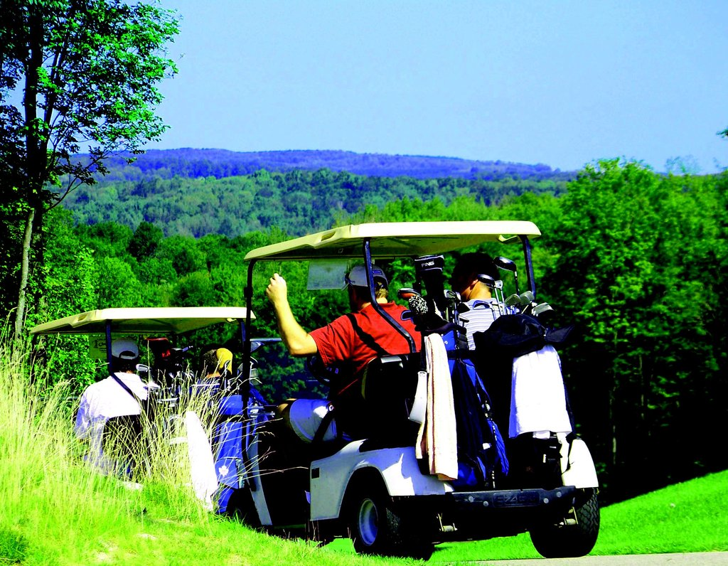 Golfers heading out for a great day on the greens.
