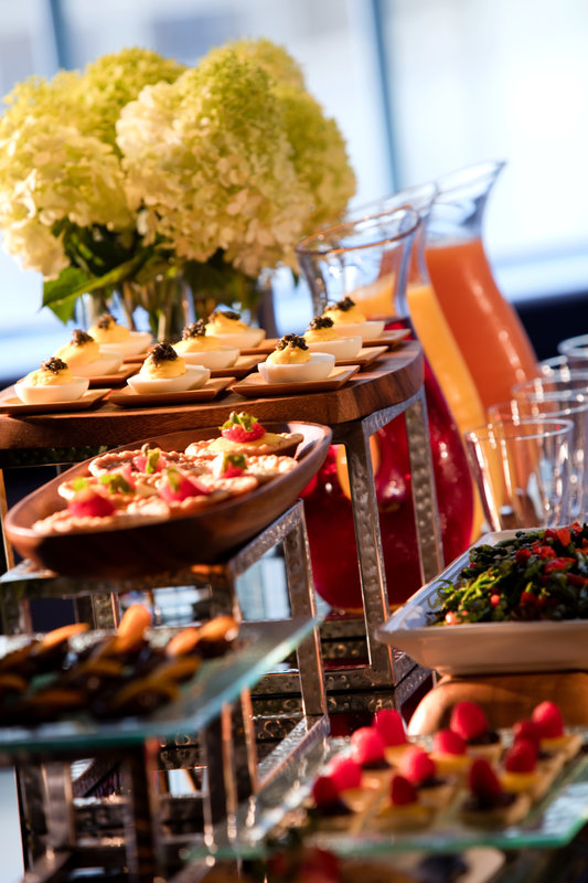 Private Lounge Food/Beverage Presentation