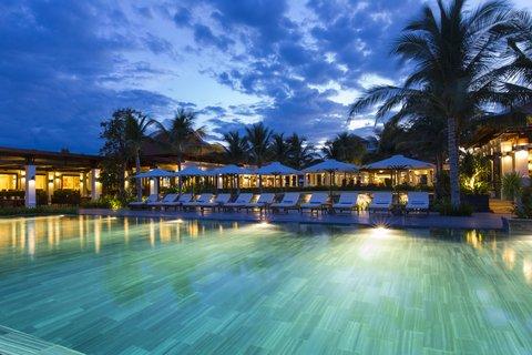 Evening Mood Pool at The Anam Villas