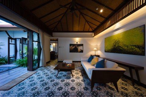 Villa Living Room at The Anam Villas