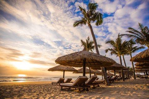 Sunrise at the Beach at The Anam Villas