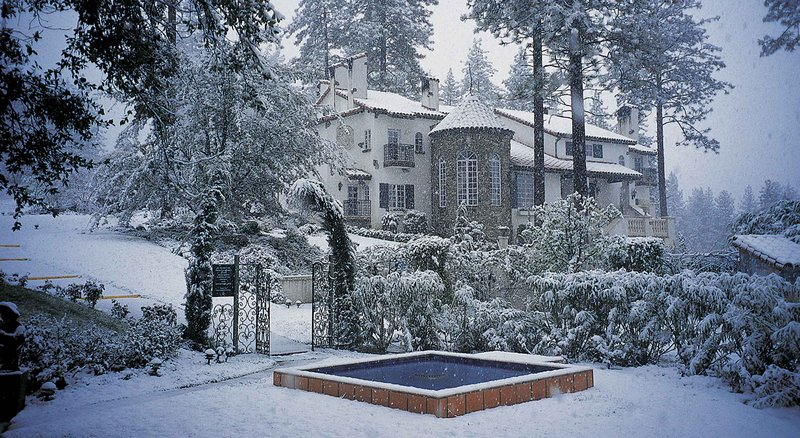Exterior view with snow