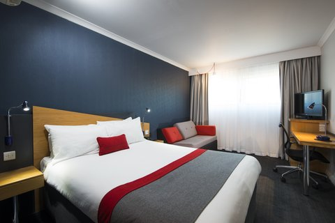 Our modern rooms boast cool decor and handy facili