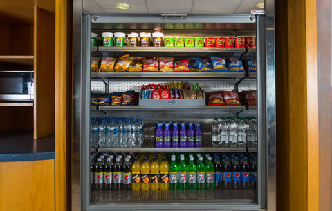 Hungry? Pick up a snack from our vending fridge op
