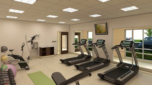 Fitness/ Exercise Room - Holiday Inn Express Hotel & Suites Versailles