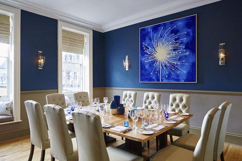 Semi-private dining area in Olivier\'s Restaurant