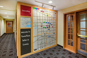 Map - TownePlace Suites by Marriott Livonia