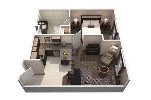 Suite - Residence Inn by Marriott Needham