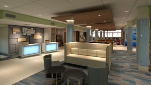 Lobby - Holiday Inn Express Hotel & Suites Commerce