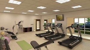Fitness/ Exercise Room - Holiday Inn Express Hotel & Suites Beachfront Galveston